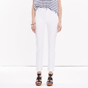 Madewell Cruiser Straight Crop Jeans in White
